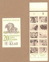 {BJ Stamps}  #1889a BK137 American Wildlife 18¢ booklet of 10 diff animals