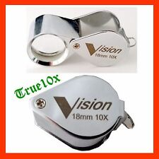 Jewelers Eye Loupe 18mm 10x Chrome Diamond Inspection Gem Magnifier Eye glass
