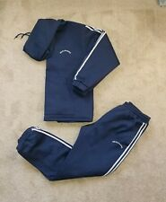 Real Sauna Fast Weight Loss Suit Pants & Hooded Sweatshirt Set Navy Size L  XL