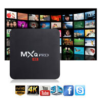 MXQ PRO Quad Core Android 7.1 Smart TV Box 1+8GB HDMI WIFI 4K Media Streamer