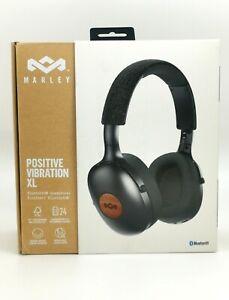House of Marley Positive Vibration XL Bluetooth Over Ear Headphones - Black Used