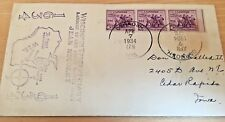 WISCONSIN  300 YEAR ANNIVERSARY 1934   POSTAL COVER