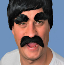 Black Thick Large Droop Style Fancy Dress Moustache