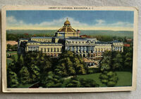Vintage Postcard Library Of Congress Washington DC Postmarked 1945 Patriotic