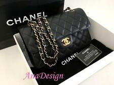 Authentic Chanel Classic 2.55 Black Caviar Small Double Flap Bag GHW