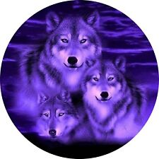 4x4 Spare Wheel Cover 4 x 4 Camper Camper Graphic Vinyl Sticker Wolves 100
