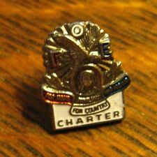 FOE Auxiliary Charter Lapel Pin - Vintage Fraternal Order Of Eagles Lodge Badge