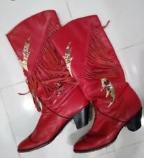 red western fringe snake avant garde cowboy boots wonder woman