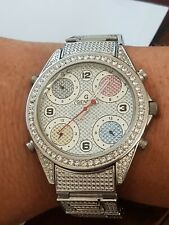 Geneva Men's or Women's Stainless Steel  Crystal Watch