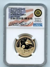 2019 S $1 Sacagawea Dollar NGC PF70UCAM First Day of Issue FDOI Miles Standish
