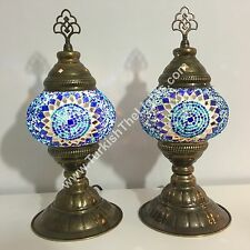 PAIR OF TURKISH MOSAIC TABLE LAMPS, TURKISH LIGHTS
