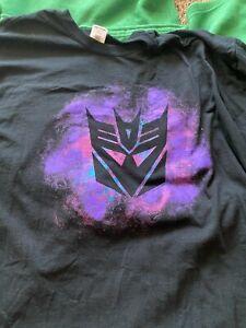 Transformers Decepticon Logo T-Shirt 2XL Used