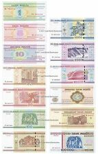 Belarus 1 Ruble to 100,000 Rubles Full Set of 13 Banknotes 13 PCS UNC