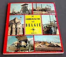 """Kuifje - Album Chromo's """"De aardrijkskunde van Belgie"""" Deel2 Kuifje's bon 1957"""