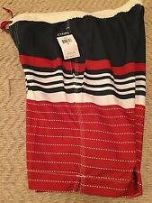 Chaps Men Swimming Shorts Size Small Blue/Red Color, NWT
