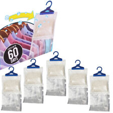 6 Hanging Portable Wardrobe Dehumidifier Stop Damp Moisture Mould Mildew Hanger