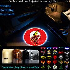 2x Wireless Car Door Marvel The Flash Logo Projector Cree LED Ghost Shadow Light