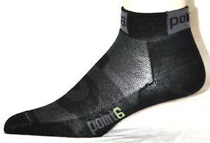 Point6 Cycling Stealth Ultra Light Mini Crew Socks Size Small New