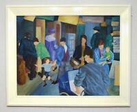 Fabulous Irish Naive Modern Art Painting Haberdashers Falls Road March 68