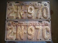 Pair of 1937 Ontario License Plates 2N970