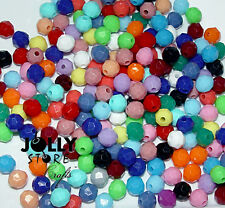 8mm Faceted Round Beads 500 piece bag Multi Colors made in USA