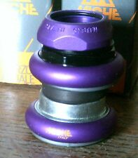 "NOS MICHE PURPLE 1 1/8"" THREADED HEADSET"