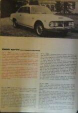 * ALFA ROMEO 2600 Sprint  Caratteristiche Tecniche + description ORIGINAL  *