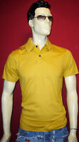 ANDy MORE POLO SHIRT Gr.M GELB NEW TREND DEEP REMIX
