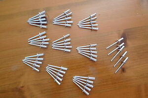 Ultimate Quality Blind Pop Closed Rivets x 50 for Land Rover Series 123 Cappings