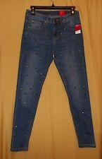 V Cristina women's faded denim jeans skinny ankle pants studs distressed 2 $129