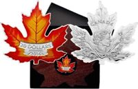 2016 Colored .9999 Silver Proof Canadian Maple Leaf Coin w/COA and Display Case