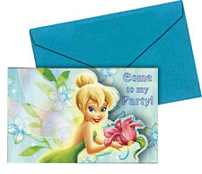 Disney Tinkerbell Birthday Party Invitations, Pack of 6 Invites - FREE DELIVERY