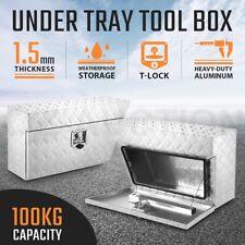 Pair of Under Tray Tool Boxes Aluminium Truck Vehicle Trailer Underbody Toolbox