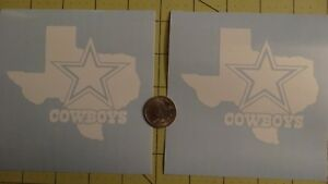 2X 4inch Dallas Cowboys Texas Car Decal