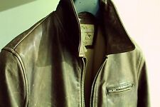Banana Republic Leather Jacket Highwayman slate Brown $550 Medium (fits like S~M
