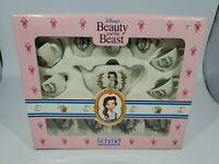 Schmid Disney's Beauty & the Beast Child's Porcelain Play Tea Set 12 Piece NEW!