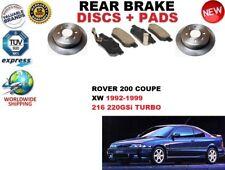 para ROVER 200 XW 216 220 89-95 Coupe Juego freno disco trasero + pastillas de