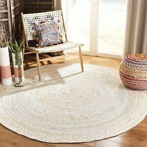 Rug 100% Cotton handmade reversible area rug modern rustic look living rug
