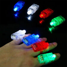 10Pcs Finger Light Up Ring Laser LED Rave Party Dance Favors Glow Beam Torch New