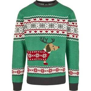 Urban Classics Sausage Dog Christmas Sweater Pullover Christmas MEN'S - XXL