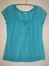 Ladies ESPRIT Blue Top Size UK8 (8-10)