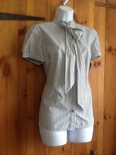 TopShop Striped Semi Fitted Short Sleeve Women's Tops & Shirts