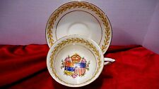 1939 PARAGON GEORGE VI  QUEEN ELIZABETH ROYAL VISIT TO CANADA & U.S. CUP& SAUCER
