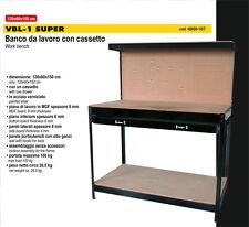 Banco da lavoro da officina con cassetto Vigor VBL-1 Cm. 120x60x150
