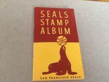 SAN FRANCISCO SEALS STAMP ALBUM 1957 PACIFIC COAST LEAGUE
