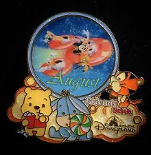 LE HKDL Annual Passholder Month August Mickey FAB Pooh Tigger Eeyore Disney Pin