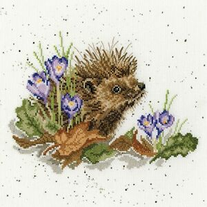 NEW ~ Bothy Threads ~ Counted Cross Stitch Kit ~ New Beginnings Hedgehog ~ XHD51
