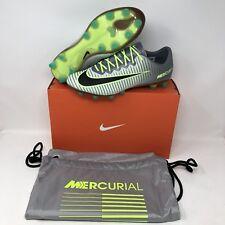 Nike Mercurial Vapor XI AG-Pro Soccer Cleats Men's sz 9.5 Platinum Ghost Green