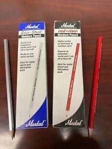 Markal 96105 Red-Riter / 96101 Silver-Streak Welder Pencils - 12 each