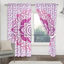 Beautiful Mandala Indian Flower Cotton Drapes Curtain Home Window Door Valances